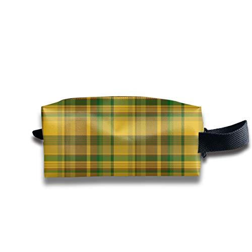 Alberta Tartan, Gelb (Pik Mills) _14567 Tragbare Reise-Make-up-Kosmetiktaschen Organizer Multifunktionskoffer Taschen für Unisex -