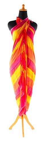 Sarong Pareo Batik telo da mare portafoglio spiaggia sciarpa drappo Tye dye Bali Strisce