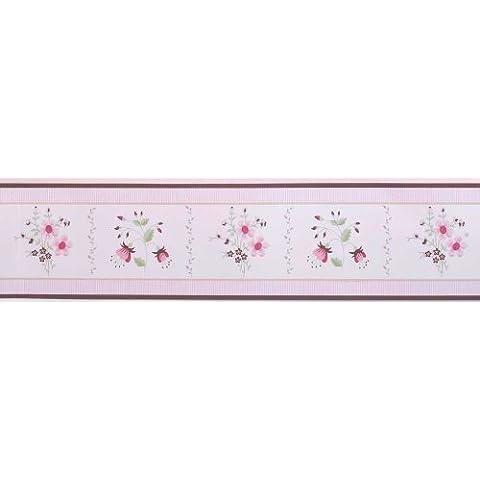 Julia da parete riposizionabile per bambini, 10 m, colore: rosa/bordeaux (Produzione sospesa)