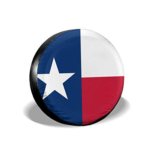 best& Texas State Flag Polyester Universal Spare Wheel Tire Cover Wheel Covers Jeep Trailer Rv SUV Truck Camper Travel Trailer Accessories 14 Inch -