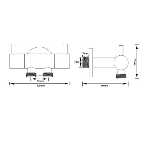 KES K1012 + LP903 designermäßige Hochdruck Wasser-Saving Bidet Spray für WC, Chrom