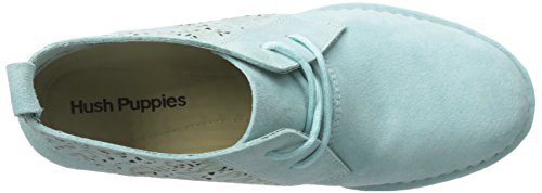 Hush Puppies Women's Cyra Catelyn Boot, Chino Tan Perforated Suede, 10 M US Aqua Blue Perf Suede