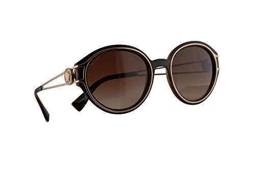Versace VE4342 Sonnenbrille Havana Bleichgold Mit Braunem Verlaufsglas Gläsern 53mm 10813 4342 VE