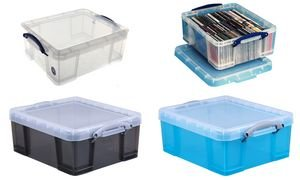 Really Useful Box Aufbewahrungsbox 18 Liter,transparent klar VE=1