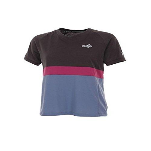 Maloja Femme Manches Courtes T-Shirt Rose Multi 1/2 gris foncé