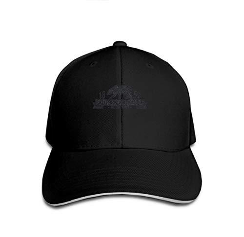 Xunulyn Unisex Adjustable Mesh Caps Snapback Hat California Grizzly Bear Design Print Black