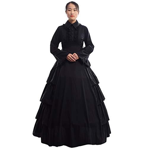 GRACEART Damen Gothic Viktorianisches Kleid Renaissance Maxi Kostüm (XL)