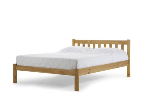 Double Pine Bed - Solid Slatted Pine Frame & Base - Great Value Bed Frame - by Verona Design