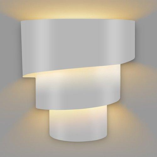 Amzdeal Applique Murale LED éclairage décoratif ( ampoule E27 non inclus ), Lampe murale LED Rotatif à trois couches en forme de l'échelle de mode créatif en fer ( Blanc )