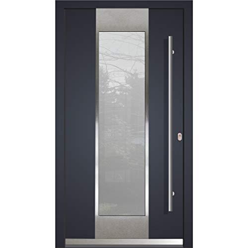Haustür Welthaus WH94 RC2 Premiumtür Aluminium mit Kunststoff LA123 Tür nach mass gemacht Farbe aussen Anthrazit Innen weiß außengriff BGR1600 innendrucker M45 Zylinder 5 Schlüßel