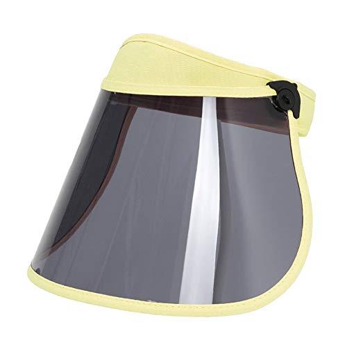 DALL Sonnenhüte Linse Leere Zylinderhut Weiblicher Schirmmütze UV-Schutz Radfahren Im Freien Sommer (Farbe : Gelb, größe : 48-61cm)