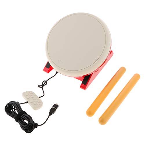 Baoblaze Für Taiko Drum Controller 2 Drum Sticks Instrument mit USB Anschluss für NS Nintendo Switch Konsole (Nintendo Drums)