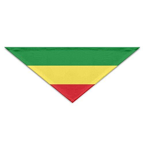 Rghkjlp Ethiopian Flag Bandana Dreieck Halstuch Lätzchen Schals Zubehör für Hunde & ()