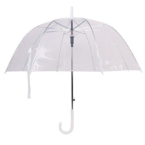 Transparent Regenschirm–Transparent Regenschirm–Dome Form Regen Regenschirm–Hälfte Automatischer Regenschirm für Mädchen Damen und Kids–dracarys