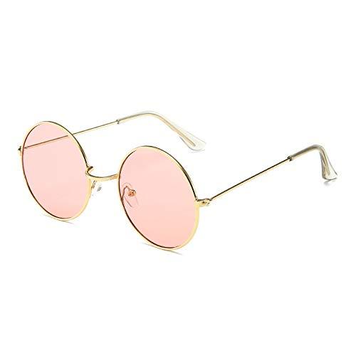 JYTDSA Runde Sonnenbrille Frauen objektiv Spiegel Sonnenbrille weiblichen metallrahmen Kreis gläser uv400
