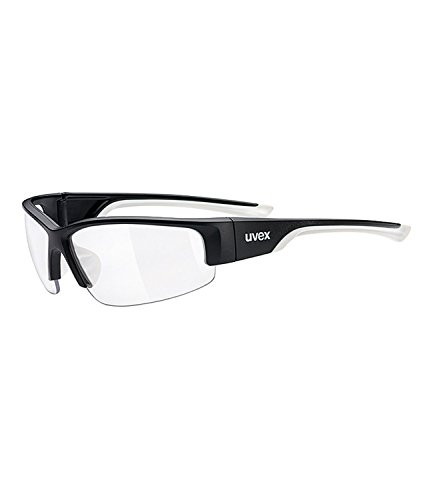 Uvex Erwachsene Sportsonnenbrille Sportstyle 215, Black Mat White/Lens Clear, One Size, 5306172819