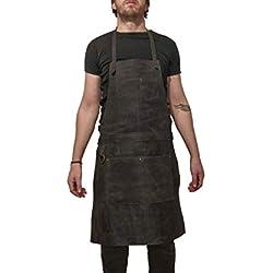 Delantal de cuero profesional para chef, carnicero, metalúrgico, carpintero, tatuador - Tirel DX de One Leaf