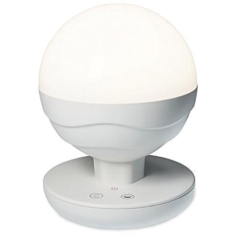 FeinTech LTL00200 Portable LED-Lampe mit Akku USB Lichtfarbe warmweiß bis