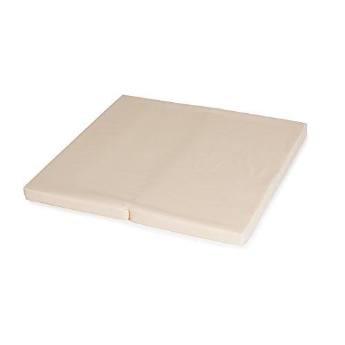 Hauck Sleeper SQ Reisebett-/Laufstall Matratze, 90 x 90 cm, 6 cm hoch, 2 teilig zusammenklappbar, inklusive Transporttasche, uni beige