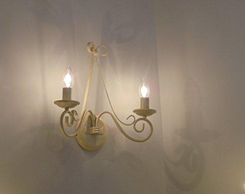 LAMPADA DA PARETE APPLIQUE 2L. FIAMMINGO CLASSICO RUSTICO COUNTRY