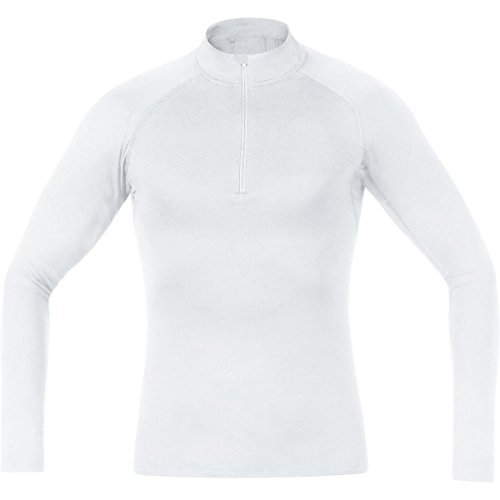 GORE BIKE WEAR Base Layer - Camiseta cuello de ciclismo para hombre, color blanco, talla L