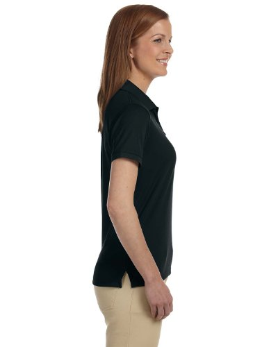 Donna dri-fasttm advantagetm Solid maglia polo, colore bianco, S Black