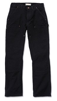 Duck Work Pant (Carhartt Workwear Hose Washed Duck Work Dungaree EB136 Arbeitshose, Black, 30W / 32L)