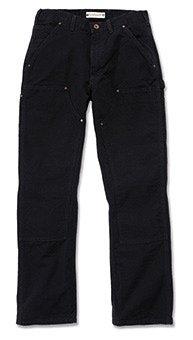 Duck Work Pant (Carhartt Workwear Hose Washed Duck Work Dungaree EB136 Arbeitshose, Black, 30W / 32L)