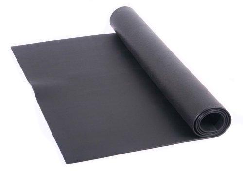 FA Sports Unisex Adult Bodenschutzmatte Protectfloor, Schwarz, 200 x 100 x 0.4 cm