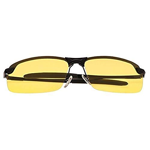 Gaodaweian Day Night Polarized Driving-Sonnenbrille HD-Night-Driving-Brillengläser für den Outdoor-Look - Schwarz
