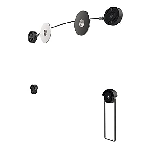 PureMounts PM-Wire-52 - TV Wall Mount - ultra flat, stable, steady Cable Rope for Television Set up to 132cm / 55