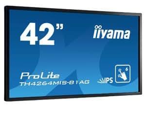 """iiyama ProLite TH4264MIS-B1 AG 42"""" 1920 x 1080pixels Multi-utilisateur Noir moniteur à écran tactile - moniteurs à écran tactile (106,7 cm (42""""), 9 ms, 400 cd/m², 1000:1, 1920 x 1080 pixels, LED)"""