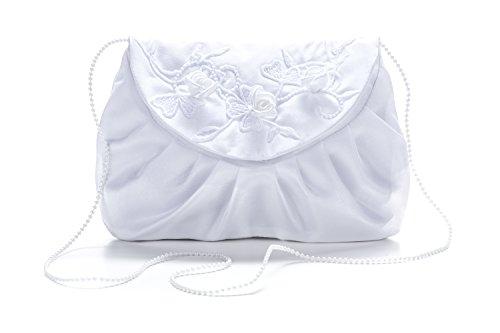 Ivory Princess Taufkleid klassisch aus Brautbeutel und Satin Weiß in Weiß 0qU0rwpxP