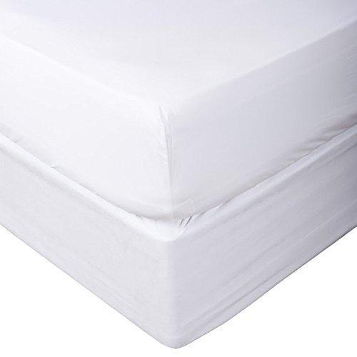 Fadenzahl 1000'- Solide 100% ägyptische Baumwolle elegant 1-pc Spannbetttuch (unten Bettlaken nur) Extra Long Fit bis zu 38,1cm Zoll Tiefe Pocket in 9Größen und 31Farben., baumwolle, weiß, Twin (Rock Long Extra Bed Twin)