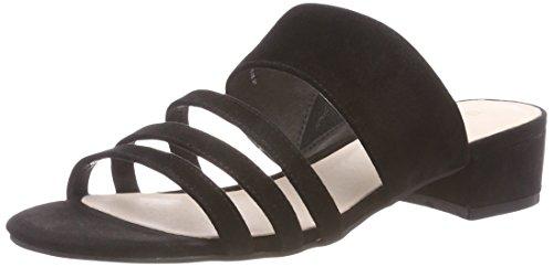 Bianco Damen Strap Sandal Pantoletten, Schwarz (Black), 37 EU (Schwarze Wildleder-pantoletten)