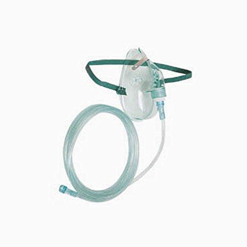ASID BONZ Sauerstoffmaske ohne Reservoir für Kinder mit Schlauch 2,13 m Sauerstoff Beatmung Inhalieren O2 Beatmungsmaske Maske Atemmaske Inhalationsmaske