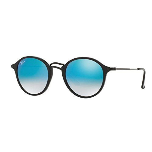 Ray-Ban Unisex Sonnenbrille Rb 2447 Gestell: schwarz, Gläser: blau verspiegelter Farbverlauf 901/4O), Medium (Herstellergröße: 49)
