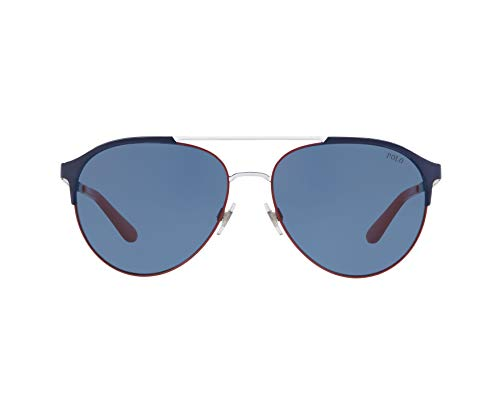 Ray-Ban Herren 0PH3123 Sonnenbrille, Braun (Navy Blue/Red/White), 60.0