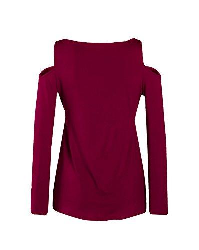 U8Vision - T-shirt de sport - Tunique - Femme rouge foncé
