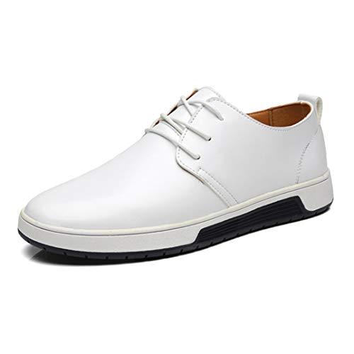 Scarpe da Lavoro Casual da Uomo Stringate Oxford Scarpe da Passeggio Piatte Scarpe da Guida Comfort Resistenti all'Usura Scarpe da Ufficio semplici da Ufficio 38-48