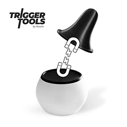 Trigger Tools - Basic Set, zur Triggerpunkt Selbstmassage, muskuläre Verspannungen selbst behandeln - Akupressur Faszien-Drücker by Navelo (schwarz/weiß)
