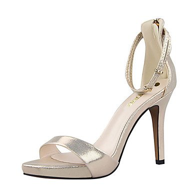 Ch & Tou Sandalias Para Mujer-sandalias-casual-stiletto-pu (poliuretano) -negro / Rosa / Rojo / Plateado / Dorado Plateado
