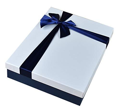 Rechteckige Geschenkbox der großen Kapazität schöne Band-Bogen-Zusatz-Feiertags-Bankett-Geschenk-Verpacken Multi-Size optional (größe : 31×24×7cm) -