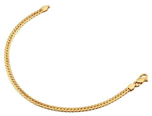 Orleo - REF5456BB : Bracelet Femme Or 18K jaune - Maille Anglaise 18 cm