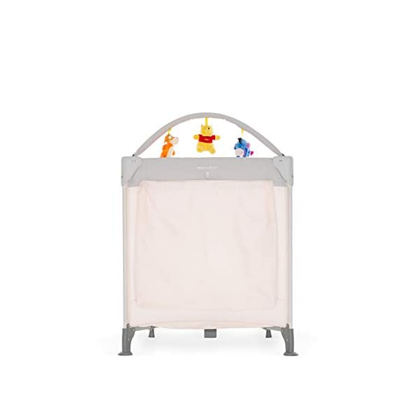 Hauck Dream N Play Go, 5-Part Travel Cot from Birth to 15 kg, 120 x 60 cm, Folding Travel Bed with Folding Mattress, Carry Bag, Play Arch and Toy Bag, Tilt-Resistant, Pooh Cuddles Disney Suitable from birth Includes fold up mattress (60 x 120cm) Folds away into its own carry bag 7