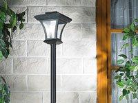 Lunartec Solar-LED-Gartenleuchte mit 166-cm-Laternenmast von Lunartec - Lampenhans.de