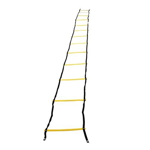 Koordinationsleiter Trainingsleiter Geschwindigkeitstraining für Fußball Basketball Sporttraining(7m-Gelb)