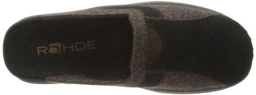 Rohde - Vaasa-h, Pantofole Uomo Nero (Schwarz (schwarz 90))