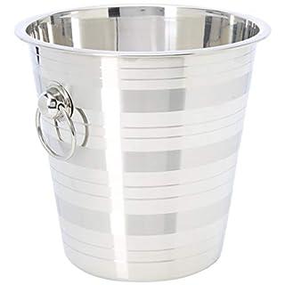 Industrias Aldaya S.L. Edelstahl Champagner Ice Bucket mit Ringen, Silber