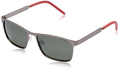 Polaroid Unisex-Erwachsene PLD 2047/S UC R80 57 Sonnenbrille, Grau (Smtt Dkruthe/Green Pz),